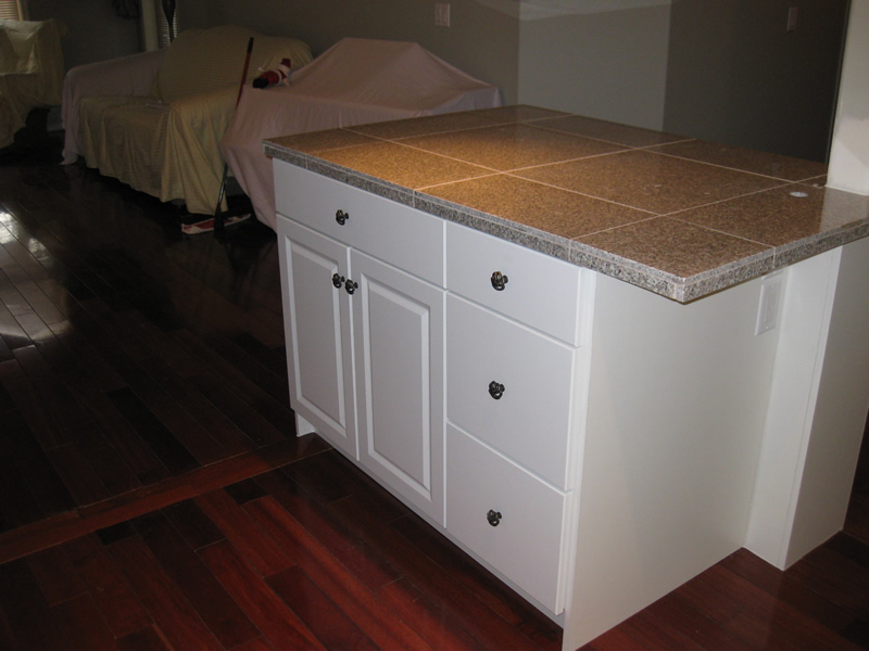 new kitchen island replaces old penninsula
