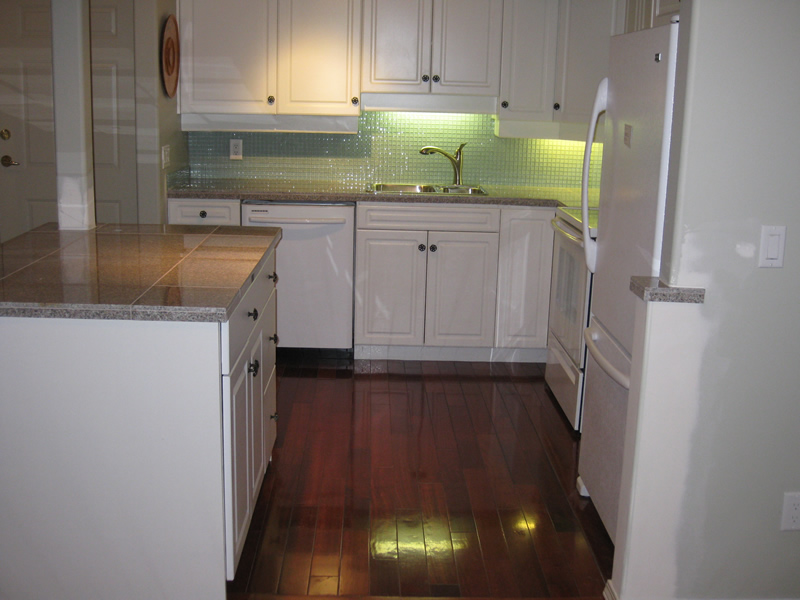after pciture of remodeled kitchen with new island