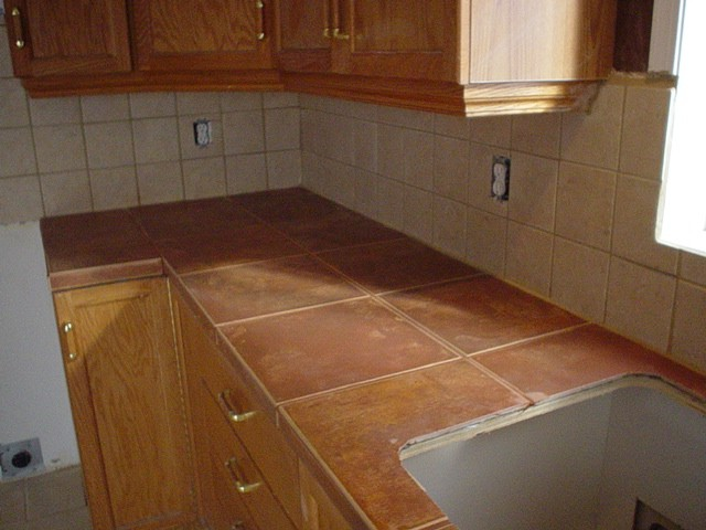 cermaic tile kitchen counter