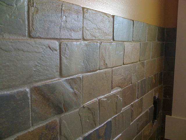 Slate Backsplash Cheap Amusing Multi Color Natural Slate Backsplash With Drop Ceiling With